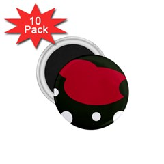Red, black and white abstraction 1.75  Magnets (10 pack)