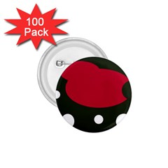 Red, black and white abstraction 1.75  Buttons (100 pack)
