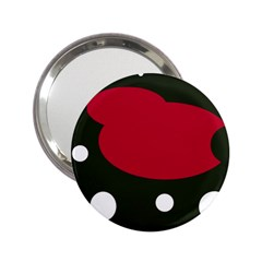 Red, black and white abstraction 2.25  Handbag Mirrors