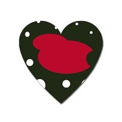 Red, black and white abstraction Heart Magnet