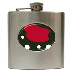 Red, black and white abstraction Hip Flask (6 oz)