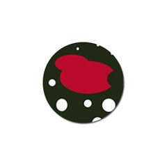 Red, black and white abstraction Golf Ball Marker (4 pack)