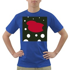 Red, black and white abstraction Dark T-Shirt