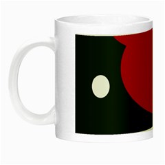 Red, black and white abstraction Night Luminous Mugs