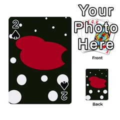Red, black and white abstraction Playing Cards 54 Designs
