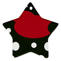 Red, black and white abstraction Star Ornament (Two Sides)