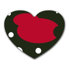 Red, black and white abstraction Heart Mousepads