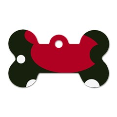 Red, black and white abstraction Dog Tag Bone (One Side)