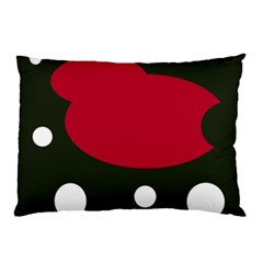 Red, black and white abstraction Pillow Case