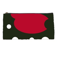 Red, black and white abstraction Pencil Cases