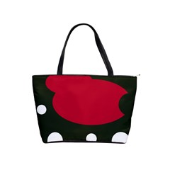 Red, black and white abstraction Shoulder Handbags