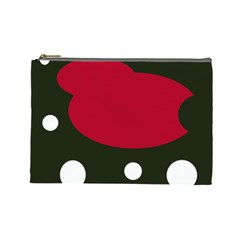 Red, black and white abstraction Cosmetic Bag (Large)