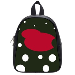 Red, black and white abstraction School Bags (Small)