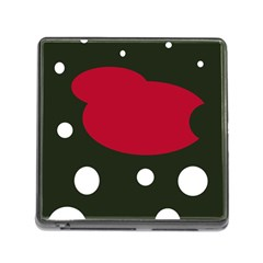 Red, black and white abstraction Memory Card Reader (Square)