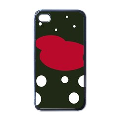 Red, black and white abstraction Apple iPhone 4 Case (Black)