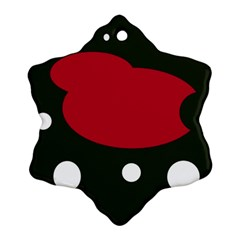 Red, black and white abstraction Ornament (Snowflake)