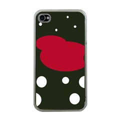 Red, black and white abstraction Apple iPhone 4 Case (Clear)