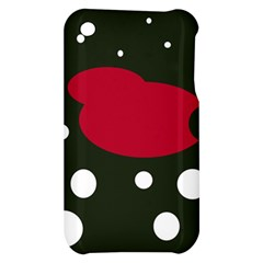 Red, black and white abstraction Apple iPhone 3G/3GS Hardshell Case