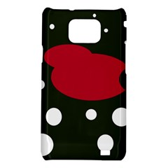 Red, black and white abstraction Samsung Galaxy S2 i9100 Hardshell Case