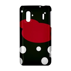 Red, black and white abstraction HTC Evo Design 4G/ Hero S Hardshell Case