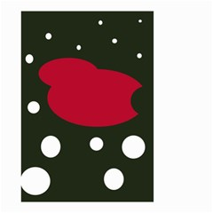 Red, black and white abstraction Small Garden Flag (Two Sides)