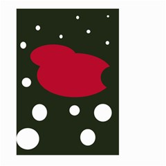 Red, black and white abstraction Large Garden Flag (Two Sides)