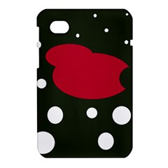 Red, black and white abstraction Samsung Galaxy Tab 7  P1000 Hardshell Case