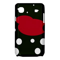 Red, black and white abstraction Samsung Galaxy SL i9003 Hardshell Case
