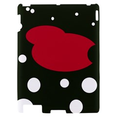 Red, black and white abstraction Apple iPad 2 Hardshell Case