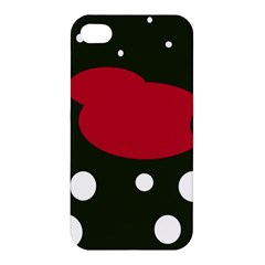 Red, black and white abstraction Apple iPhone 4/4S Premium Hardshell Case