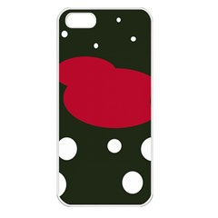 Red, black and white abstraction Apple iPhone 5 Seamless Case (White)