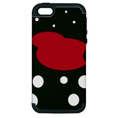 Red, black and white abstraction Apple iPhone 5 Hardshell Case (PC+Silicone)