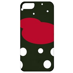 Red, black and white abstraction Apple iPhone 5 Classic Hardshell Case