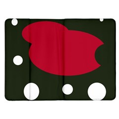 Red, black and white abstraction Kindle Fire (1st Gen) Flip Case