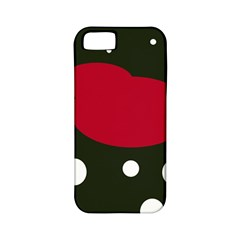 Red, black and white abstraction Apple iPhone 5 Classic Hardshell Case (PC+Silicone)