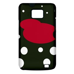 Red, black and white abstraction Samsung Galaxy S II i9100 Hardshell Case (PC+Silicone)