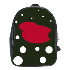 Red, black and white abstraction School Bags (XL)