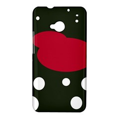 Red, black and white abstraction HTC One M7 Hardshell Case