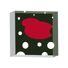 Red, black and white abstraction 4 x 4  Acrylic Photo Blocks