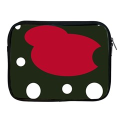 Red, black and white abstraction Apple iPad 2/3/4 Zipper Cases