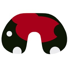 Red, black and white abstraction Travel Neck Pillows