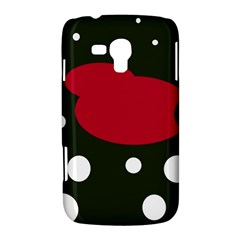 Red, black and white abstraction Samsung Galaxy Duos I8262 Hardshell Case