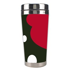 Red, black and white abstraction Stainless Steel Travel Tumblers
