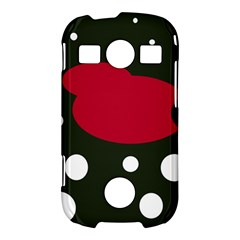 Red, black and white abstraction Samsung Galaxy S7710 Xcover 2 Hardshell Case