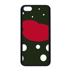 Red, black and white abstraction Apple iPhone 5C Seamless Case (Black)