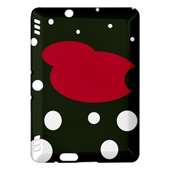 Red, black and white abstraction Kindle Fire HDX Hardshell Case