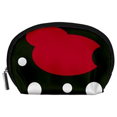 Red, black and white abstraction Accessory Pouches (Large)