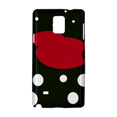 Red, black and white abstraction Samsung Galaxy Note 4 Hardshell Case