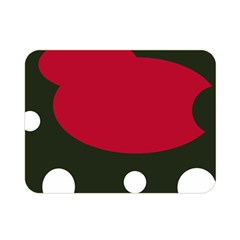 Red, black and white abstraction Double Sided Flano Blanket (Mini)