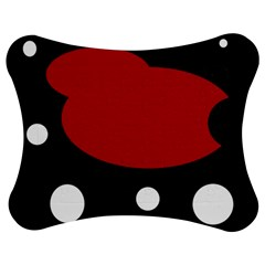 Red, black and white abstraction Jigsaw Puzzle Photo Stand (Bow)